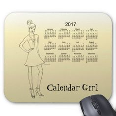 2017 Calendar Girl by Janz Mouse Pad