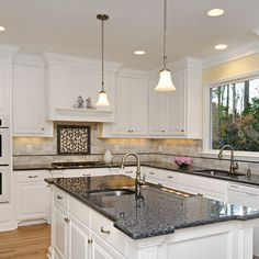 1000 images about kitchen ideas on pinterest granite for White kitchen cabinets with blue pearl granite