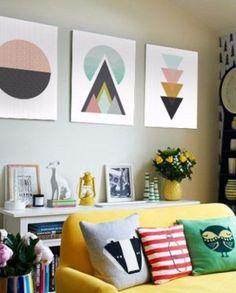 triptico moderno cuadros decorativos