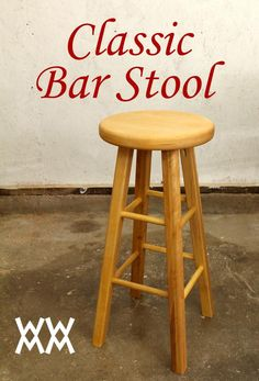 Woodworking for Mere Mortals: Free woodworking videos and plans. : Make a wood bar stool