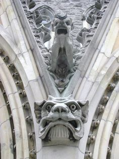 Gargoyles at Montreal's Christ Church Cathedral