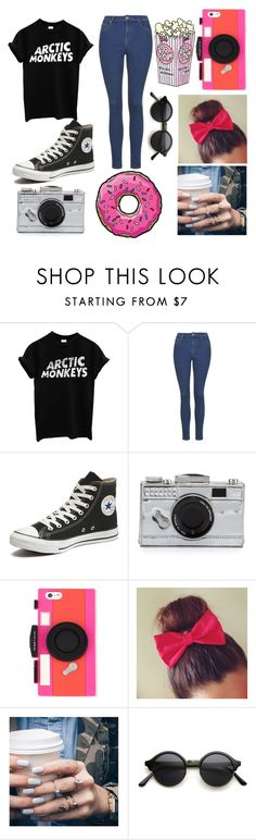 """""""@pasteldreams11"""" by underthesea29 ❤ liked on Polyvore featuring Converse, Kate Spade and Floss Gloss"""