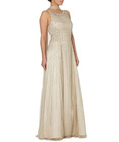 dbf9a136a350d Champagne sequin embellished maxi dress Sale - RAISHMA Champagne Color,  Gold Champagne, Ball Dresses