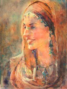 "Contemporary Painting - ""Renaissance Women"" (Original Art from Fealing Lin Watercolors)"