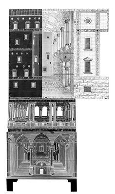 123 fantastiche immagini su art fornasetti artisti arte dell 39 illustrazione e cornici - Fornasetti mobili ...