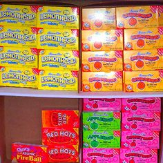 Old School Candies - Lemonheads, Redhots, Now & Laters 90s Candy, Retro Candy, Vintage Candy, Old School Candy, Candy Room, Lemon Head, Nostalgic Candy, Old Fashioned Candy, Oldies But Goodies