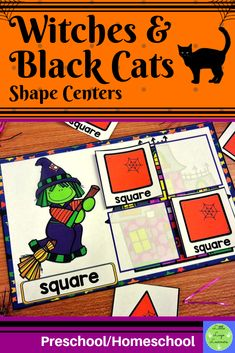 Do you have children in your class who are at different stages of learning? Are you teaching one theme that you want all of your kids to have access to with shapes? This Witches Numbers Preschool, Preschool Curriculum, Preschool Math, Maths, Halloween Math, Halloween Themes, Halloween Witches, Shape Sort, Morning Activities