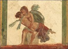 Cupid (love) and Psyche (the soul).  1st century, Pompeii