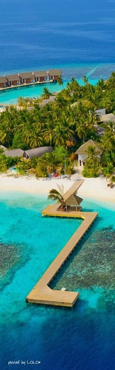 Kandolhu Island ~ is an exquisite resort in the Maldives which features just 30 villas that perfectly combine natural elements of the island with modern comfort.