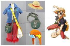 One Piece Film Strong World Monkey D Luffy Cosplay Costume unisex