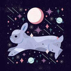 Carly Watts Art & Illustration: Celestial Bunny
