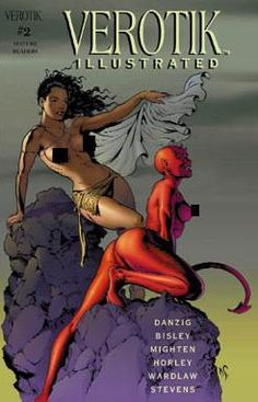 Verotik Illustrated by Various Artists.ummm dudes I put this here for you. Comic Book Covers, Comic Books Art, Comic Art, Danzig, Various Artists, Inspire Me, Graphic Art, Fantasy Art, Indie
