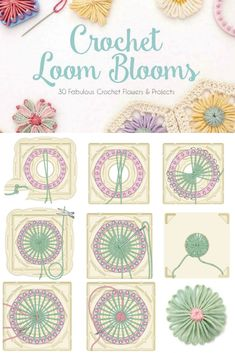 Flower looming is really easy, though a bit fiddly in the beginning. In Haafner Linssen's book Crochet Loom Blooms, you'll start by making basic circular flowers, then move on to more complex layering, shapes, and joining techniques!