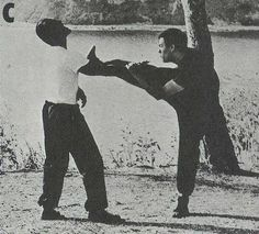 Bruce beating up on Dan Inosanto.