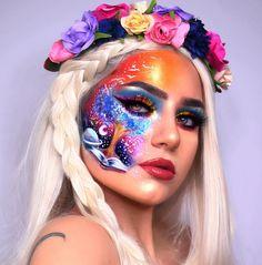 Cute Makeup Holder Ideas of Makeup Forever Bb Cream Cool Makeup Looks, Halloween Makeup Looks, Crazy Makeup, Cute Makeup, Gorgeous Makeup, Amazing Makeup, Eye Makeup Art, Colorful Eye Makeup, Eyeshadow Makeup