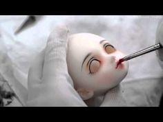 how to paint a dolls face Faceup Stories: 03 Sculpting Tutorials, Doll Making Tutorials, Doll Face Paint, Doll Painting, Doll Crafts, Diy Doll, Ooak Dolls, Blythe Dolls, Marionette