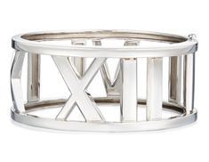 Of openwork design with Roman numeral motifMetal: white goldSignature: TIFFANY&CO. Gold Bangle Bracelet, Gold Bangles, Tiffany Atlas, Roman Numerals, Antique Jewelry, White Gold, Jewels, Antiques, Metal