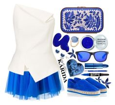 """""""Fratelli Karida"""" by simona-altobelli ❤ liked on Polyvore featuring Miista, P.A.R.O.S.H., Roland Mouret, Katrin Langer, Obsessive Compulsive Cosmetics, Local Supply, Pomellato, FOSSIL, Rimmel and Lipstick Queen"""