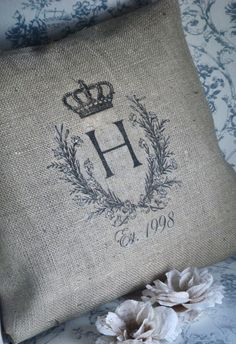 monogrammed pillow - Love This!