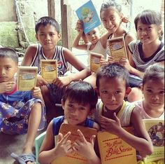 Sharing the good news with young ones in the Philippines.