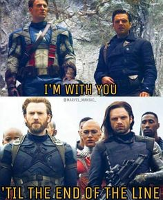 Homies For Life #Marvel #captainamerica #buckybarnes