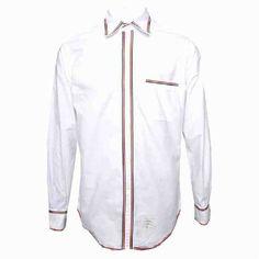 [G228]トムブラウン/THOM BROWNE/MWL156AW5259/メンズ/オックスフォード/ポケット/シャツ/長袖シャツ/ホワイト