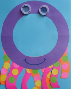 O is for Octopus Craft & Octopus Opposites Preschool Letter Crafts, Alphabet Letter Crafts, Abc Crafts, Daycare Crafts, Alphabet Activities, Craft Activities For Kids, Preschool Activities, Crafts For Kids, Arts And Crafts