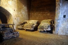 The Forgotten Tunnel Under Naples Filled With Vintage Cars