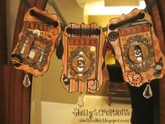 Cool 'Boo' banner from Shelley's Creations. Something Wicked, Fall Projects, Root Beer, Banner, Carving, Tuesday, Fun, Banner Stands, Wood Carvings