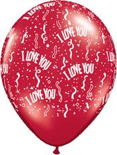 I Love You Ruby Red Latex Round 5in 12 5cm
