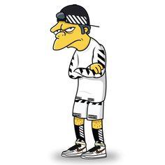 The Simpsons se visten con lo mejor del streetwear