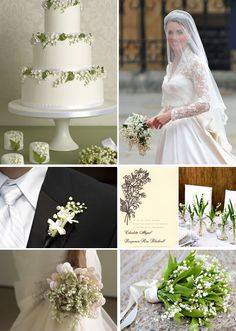 Gorgeous lily of the valley wedding inspiration
