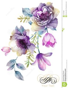 Tole Decals and Transfers Shabby Pastel Watercolor Flower Bouquet . - Tole Decals and Transfers Shabby Pastel Watercolor Flower Bouquet … – – -