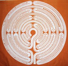 Bobbin Lace Labyrinth. Maze. After some digging I found the original lace maker. The maze was designed by Michele Minguin-Debray. I received the pattern by sending an email to the author at the following address: mimd@wanadoo.fr