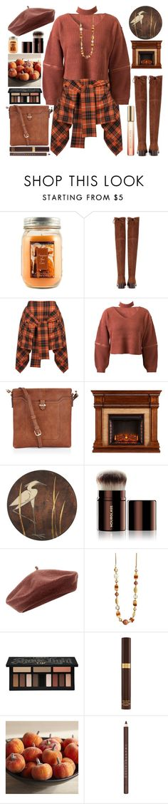 """Autumn Day"" by grozdana-v ❤ liked on Polyvore featuring Holiday Memories, Stuart Weitzman, Vivienne Westwood Anglomania, WithChic, Accessorize, Hourglass Cosmetics, Kat Von D, Tom Ford, Pier 1 Imports and Chantecaille"