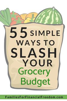 Find more than 50 ideas for how to save money on groceries for families! You can save a ton of money on the food budget with these grocery saving tips! Find frugal living tips for saving money on groceries and reduce your grocery budget! Best Money Saving Tips, Money Saving Meals, Save Money On Groceries, Ways To Save Money, Money Tips, Money Savers, Save Money On Food, Groceries Budget, Money Hacks
