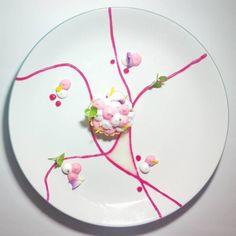 dessert rose pamplemousse