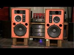 JBL 4344M vermilion colored baffle modified by KENRICK SOUND - YouTube