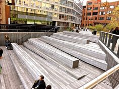 High Line steps at 10th Ave. Square/enclos*ure