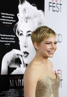 The Perfect Marilyn Monroe: Michelle Williams - Entertainment & Stars #pixie #michelle williams #michelle williams pixie #short hair
