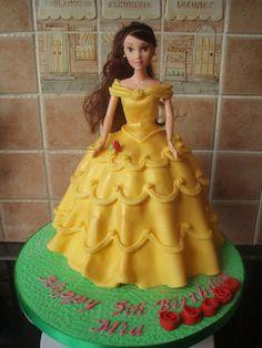 Barbie Taarten Koning Kikker Belle and the beast cake Kids