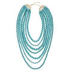 Strand Necklace- Aqua