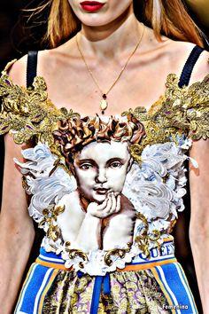 Dolce & Gabbana Fall/Winter 2018 -Detail#dolcegabbana #details