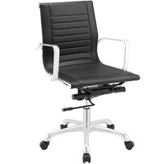 Runway Mid Back Office Chair in Black