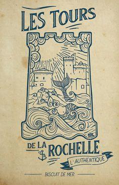 Les Tours de La Rochelle - Jordan Graphic La Rochelle France, Illustrations, Jordan, Graphic, Creations, Tours, Cards, Illustration, Maps