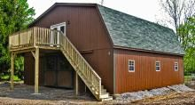 1000 images about barn homes and pole barn homes on for Gambrel barn plans with living quarters