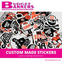 [PRODUCT] Stickers are a unique, fun way to get your branding out there, making products, or just to have some fun! Whether it's business or pleasure, we offer a wide range of sticker types for you to choose from for custom printing.