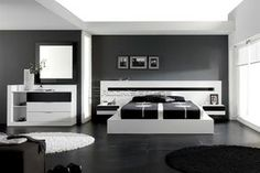 #Modern #bedroom #white+gray