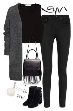 """Untitled#3889"" by fashionnfacts ❤ liked on Polyvore featuring Yves Saint Laurent, Pieces, Acne Studios, H&M, Topshop and Michael Kors"
