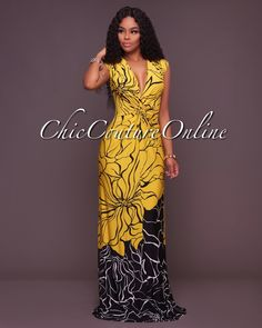 Fascinate everyone with your flawless style in this deep v maxi dress. At  Queenfy we offer our customers a wide range of maxi dresses. fc27da86356d